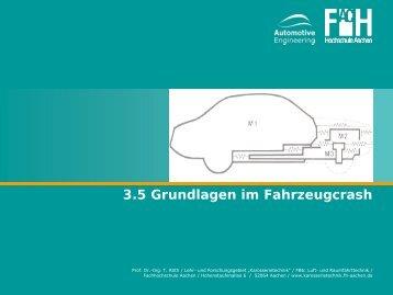 3.5 Grundlagen im Fahrzeugcrash - Karosserietechnik FH Aachen
