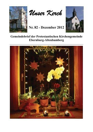 Nr. 82 (Dezember 2012) - Unser Kerch
