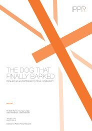 The dog that finally barked - Institute for Public Policy Research