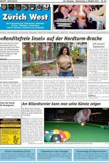 «Renditefreie Insel» auf der Hardturm-Brache - Lokalinfo AG