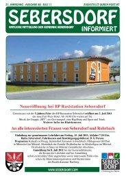 Gemeindezeitung Juli 2011 - Gemeinde und Tourismusverband ...