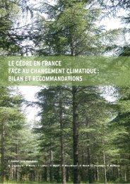 Le Cèdre en France face au CC : bilan et recommandations - partie 1