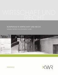 Kanzleibroschüre - KWR