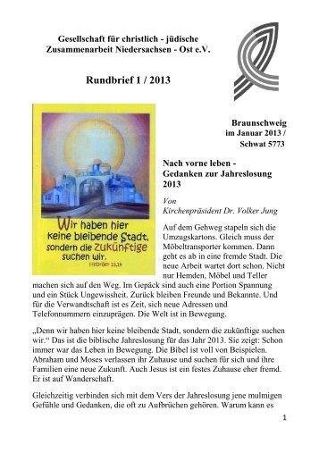 Rundbrief 1-13 - Gesellschaft für christlich-jüdische ...