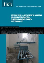 Report Torture and ill-treatment in Moldova including ... - FIDH