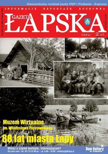 informacje ogłoszenia reklamy - Gazeta Łapska
