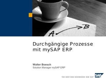 Durchgängige Prozesse mit mySAP ERP - SAP.com