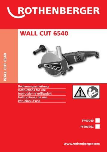 BA WALLCUT 6540 Umschlag Paket A 1210 - ROTHENBERGER