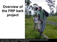 Overview of the FRP bark project - Wild Resources Limited