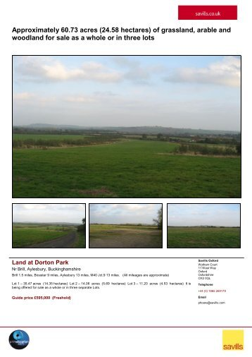 Approximately 60.73 acres (24.58 hectares) of grassland ... - Farming