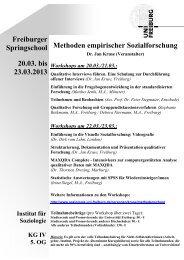 Methoden empirischer Sozialforschung Freiburger Springschool ...