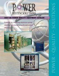 PO WER • QU ALIT Y • SO L UTIO NS - Power System Solutions
