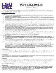 SOFTBALL RULES Intramural Sports - lsuuniversityrec.com