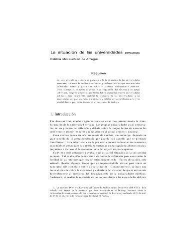 La situación de las universidades peruanas 1. Introducción