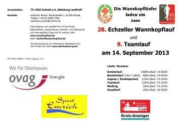 Ausschreibung 28. Wannkopflauf Echzell 2013