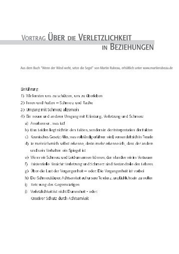 Vortrag Über die Verletzlichkeit in Beziehungen - Webseite von ...