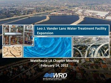 Leo J. Vander Lans Water Treatment Facility Expansion