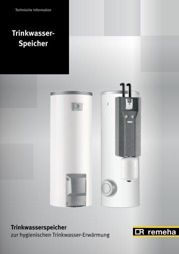 Technische Daten: Trinkwasserspeicher SR 130 RA - Schuth