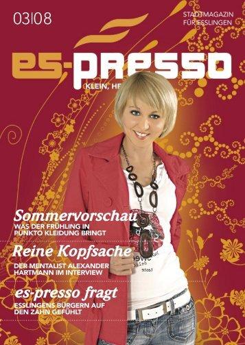 Sommervorschau Reine Kopfsache es-presso fragt