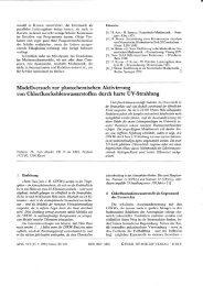 Modellversuch zur photochemischen Aktivierung von ...