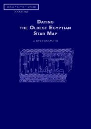 DATING THE OLDEST EGYPTIAN STAR MAP