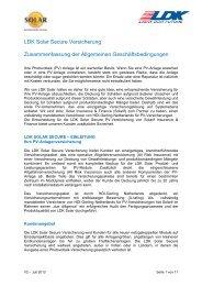 LDK Solar Secure Versicherung Zusammenfassung der ...