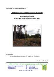 FFH Prognose und Vergleich der Standorte, Stand 05/2013