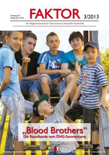2013 - #1 - bei der Österreichischen Hämophiliegesellschaft