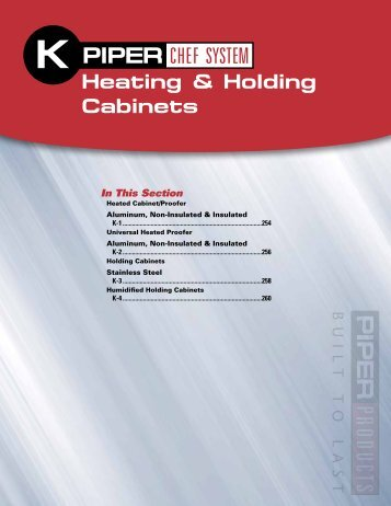 Heating & Holding Cabinets - RenTrain