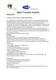 Open Vacancie Austria Burgenland