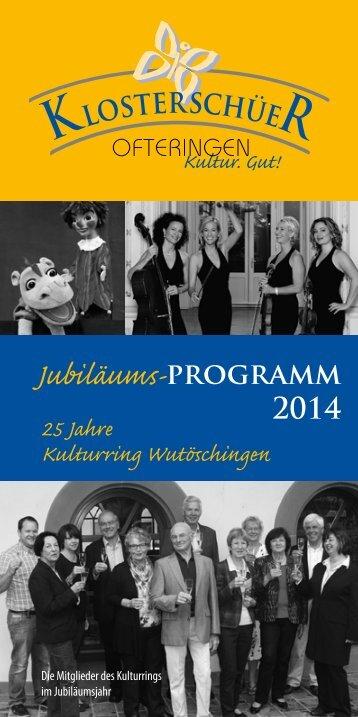 Kulturring-Programm 2014 - Gemeinde Wutöschingen