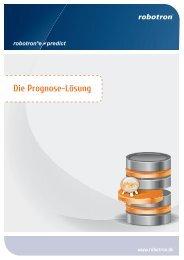 Die Prognose-Lösung - Robotron Datenbank-Software GmbH