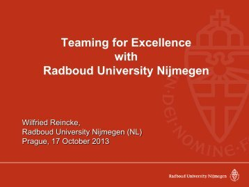 Teaming for Excellence with Radboud University Nijmegen