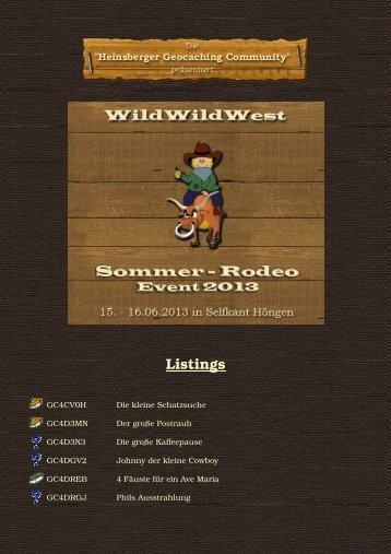 Klicken - WildWildWest Sommer-Rodeo