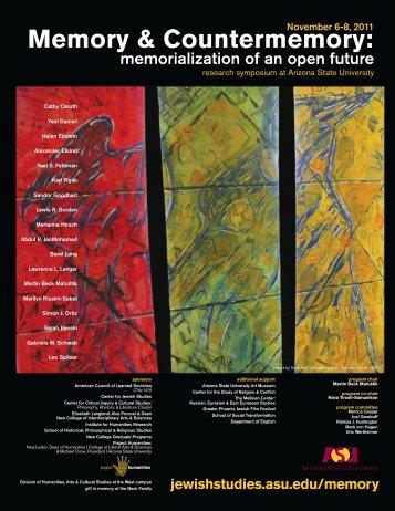 Symposium Program (printable PDF) - ASU Jewish Studies