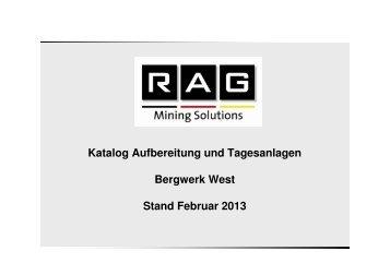 Aufbereitung und Tagesanlagen - RAG Mining Solutions