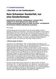 Kein Schweizer Sonderfall, nur eine Sonderfantasie - Josef Lang