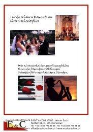 Für die schönen Momente an Ihrer Hochzeitsfeier - Event & Consulting