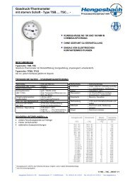 Gasdruck-Thermometer - Hengesbach GmbH & Co. KG