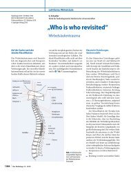 """""""Who is who revisited"""". Wirbelsäulentrauma - trauma imaging"""