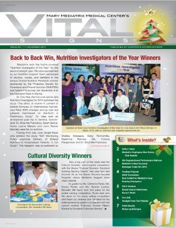 Read Newsletter - Mary Mediatrix Medical Center