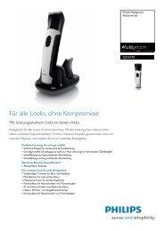 Leaflet QG3270_32 Released Germany (German) High-res ... - Philips