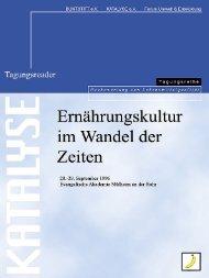 Ernährungskultur im Wandel der Zeiten - KATALYSE Institut | für ...