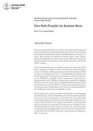 Das Reh-Projekt im Kanton Bern