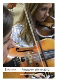 Programm Winter 2012 - StOrch - Das Münchner Studentenorchester
