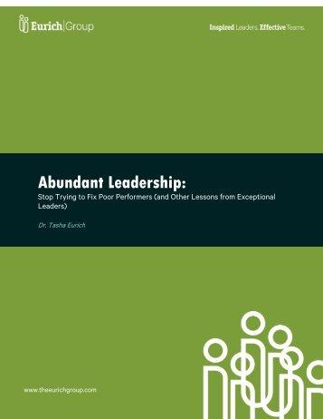 Abundant Leadership: - The Eurich Group