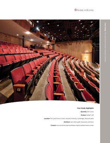 Case Study: Harvard - Loeb Drama Center - American Seating