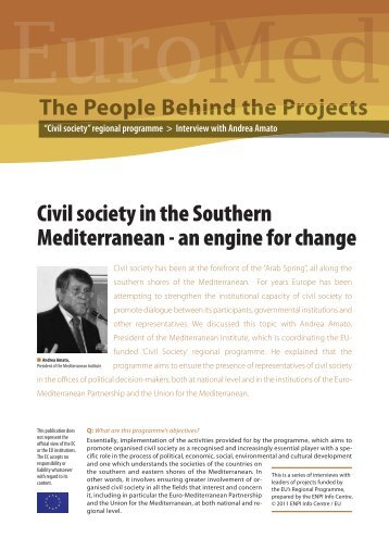 Civil society in the Southern Mediterranean - an engine for change