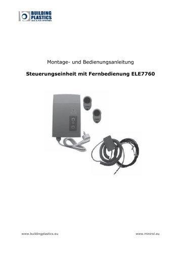 Betriebsanleitung Rolltor Steuerung ELE7760