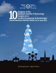 final programme - digital edition - seg/esg congress 2013